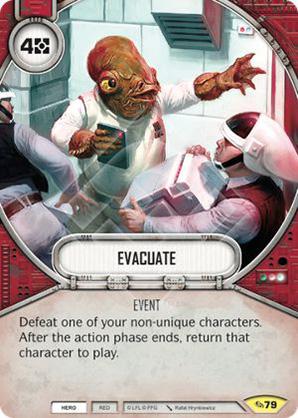 Evacuate